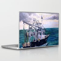 england Laptop & iPad Skins featuring New England by Samantha Crepeau