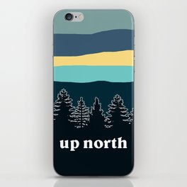 up north, teal & yellow iPhone Skin