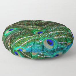 Peacock Feathered Floor Pillow