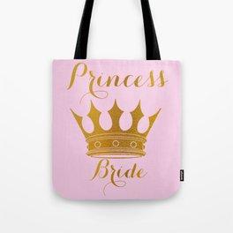 Princess Bride - Gold Faux Foil Crown Tote Bag