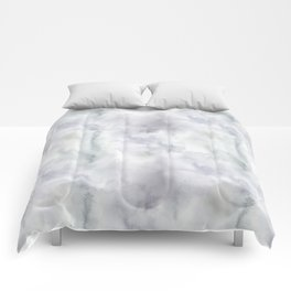 Abstract modern gray lavender watercolor pattern Comforters