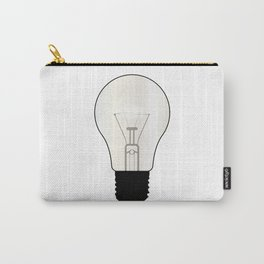 Isolated Light Bulb Carry-All Pouch