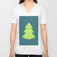 christmas tree V-neck T-shirts featuring (Christmas) Tree by Mr and Mrs Quirynen