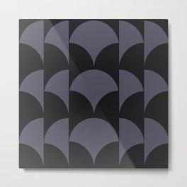 Cleo Pattern - Midnight Metal Print