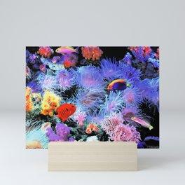 Tropical Saltwater Fish + Live Coral Mini Art Print