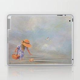 Collecting Sea Shells Laptop & iPad Skin
