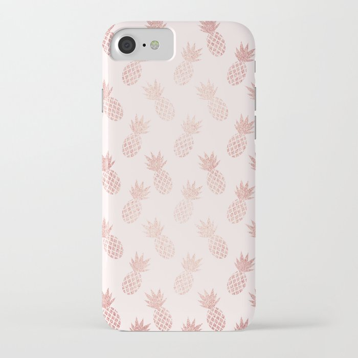 rose gold pineapple pattern iphone case