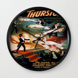 Vintage poster - Thurston the Magician Wall Clock