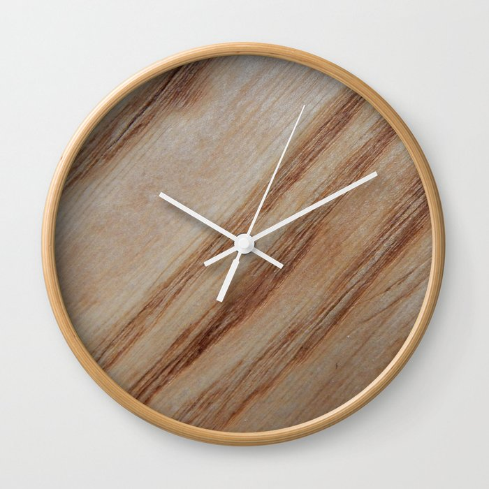 Unique Beautiful Wood Veneer Design Wall Clock