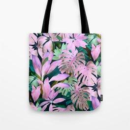 Tropical Night Magenta & Emerald Jungle Tote Bag