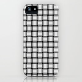 Small Pale Gray Weave iPhone Case