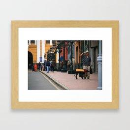 Eccentric Dog in Lima Framed Art Print