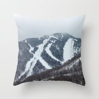 vermont Throw Pillows featuring Killington Vermont by BACK to THE ROOTS