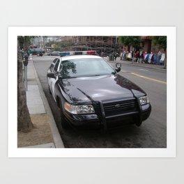 Police Car New York - Early 2000's Art Print