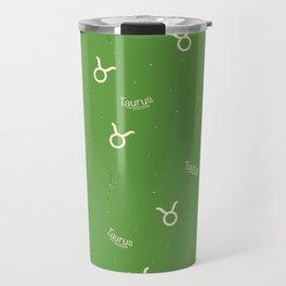 Taurus Pattern - Green Travel Mug