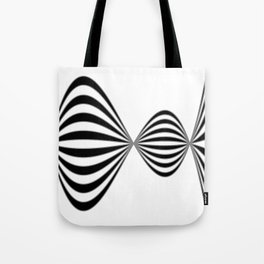 Fractal Wave Abstract Lines Tote Bag