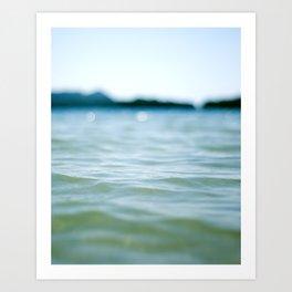 Wave Bokeh The Deep End Art Print