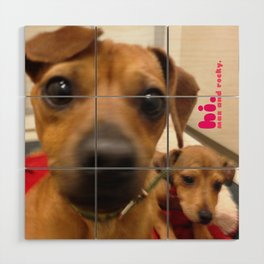 MAX and ROCKY (shelter pups) Wood Wall Art
