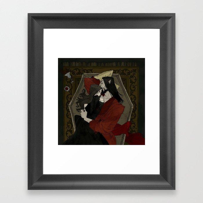 Vampire Lovers Gerahmter Kunstdruck