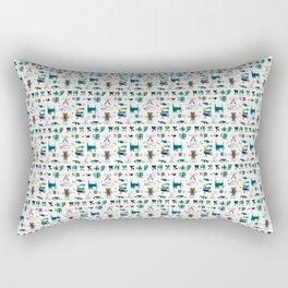 Evolved Futuristic Cult Symbols Rectangular Pillow