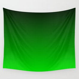 Black and Lime Gradient Wall Tapestry
