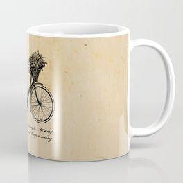 Albert Einstein - Life is Like Riding a Bicycle Coffee Mug