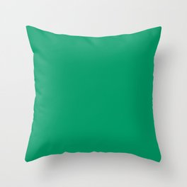 Green-Cyan - solid color Throw Pillow