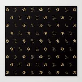Raptors - Black Canvas Print