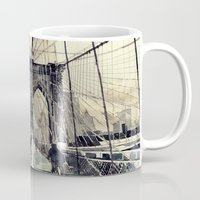 bridge Mugs featuring Brooklyn Bridge by takmaj