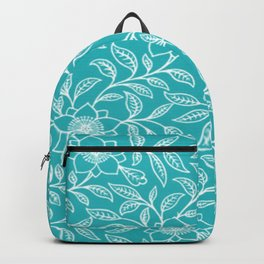 Aquamarine Lace Floral Backpack