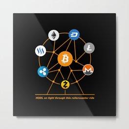 Crypto HODL Metal Print