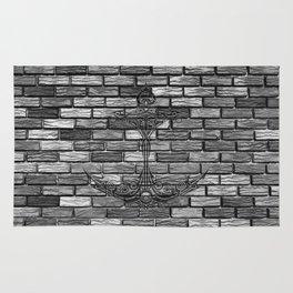 Anchor Brick Wall Rug