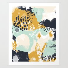 Tinsley - Abstract painting in bold, modern, bright colors Art Print