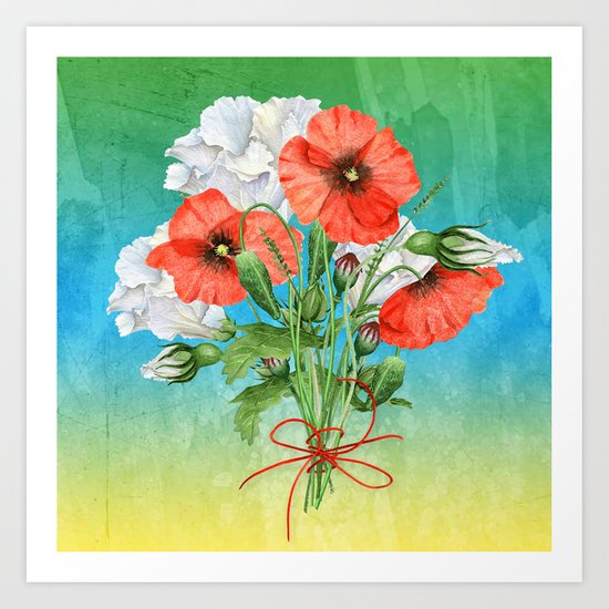 Flowers bouquet #24 Art Print