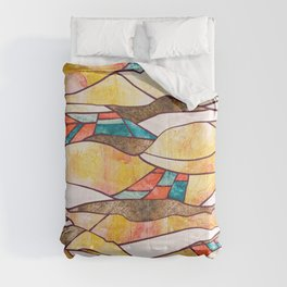 Monegros Abstract Landscape Comforters