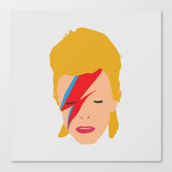 Bowie is lightning Canvas Print