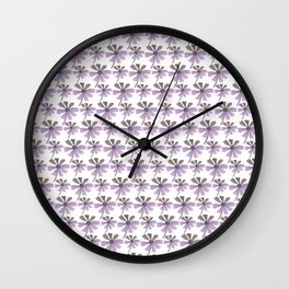 Daisies In The Summer Breeze - Purple Hue Wall Clock