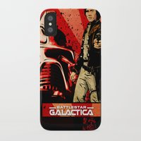 battlestar galactica iPhone & iPod Cases featuring Battlestar Galactica by Storm Media
