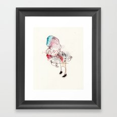 Fast with the shoes Framed Art Print