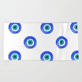 Evil Eye III Beach Towel