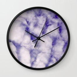 FLUFFY CLOUDS - BLUE SKY Wall Clock