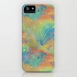 Rainbow Sparkles Leaves Flowers iPhone Case