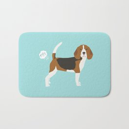 Beagle funny fart dog art cute pet gifts pure breed lovers Bath Mat