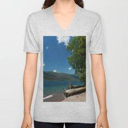 Serene McDonald Lake Unisex V-Neck