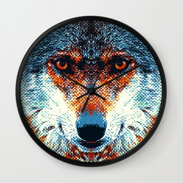 Wolf - Colorful Animals Wall Clock