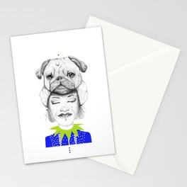 Mystic Pug Stationery Cards