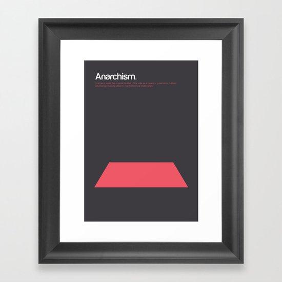 Anarchism Framed Art Print