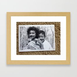 Dimples and curls Framed Art Print