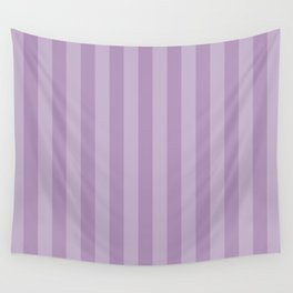 Stripes (Parallel Lines, Striped Pattern) - Purple Wall Tapestry