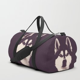 Vintage Oil Painting Husky Dog Special Design for Dog Lovers Duffle Bag